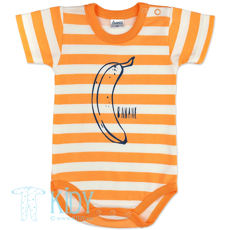 Orange shortsleeve GARCON bodysuit