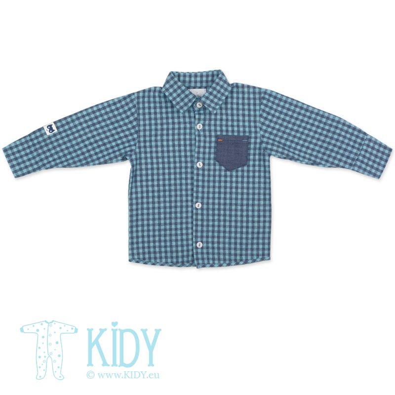 Синяя рубашка GARCON