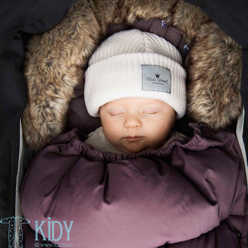 Megzta merino vilnos kepurė Vanilla White (Elodie Details) 4