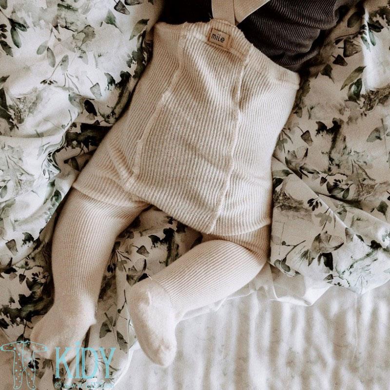Patalynės komplektas Sage Green: antklodė + pagalvė (MAKASZKA) 4