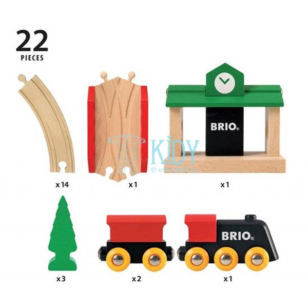 Traukinių rinkinys medinis, 8 dalys (Brio) 4