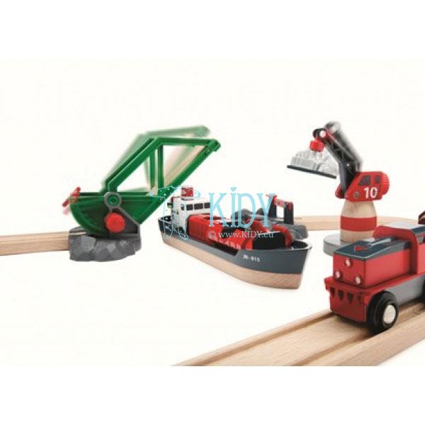 Rinkinys su traukinio bėgiais Cargo harbour (Brio) 4