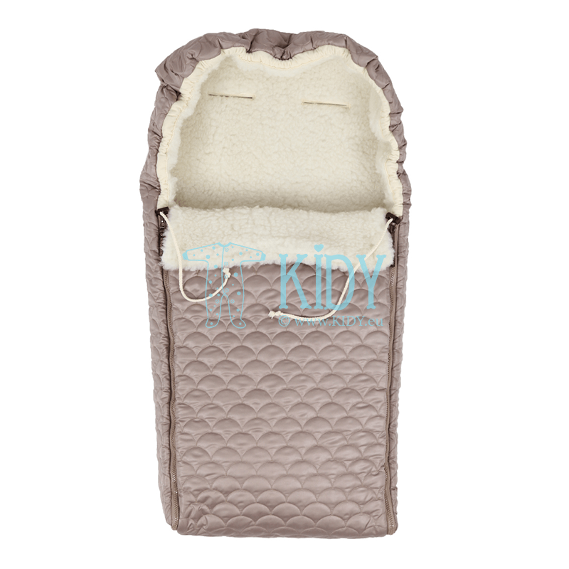Brown winter sleeping bag UNIVERSAL (Flokati) 4