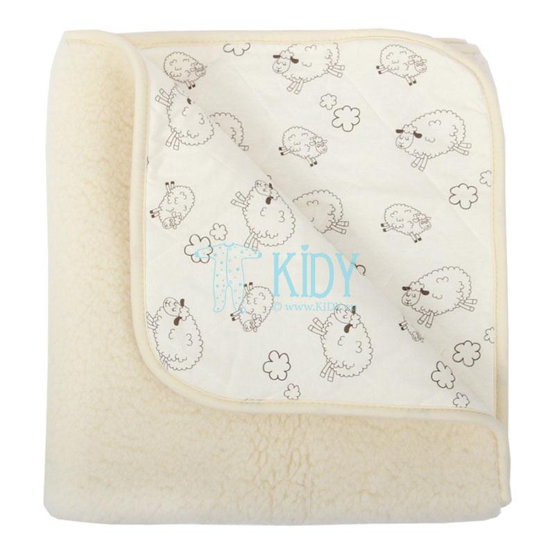 Кремовое шерстяное одеяло ALPES (Flokati) 4