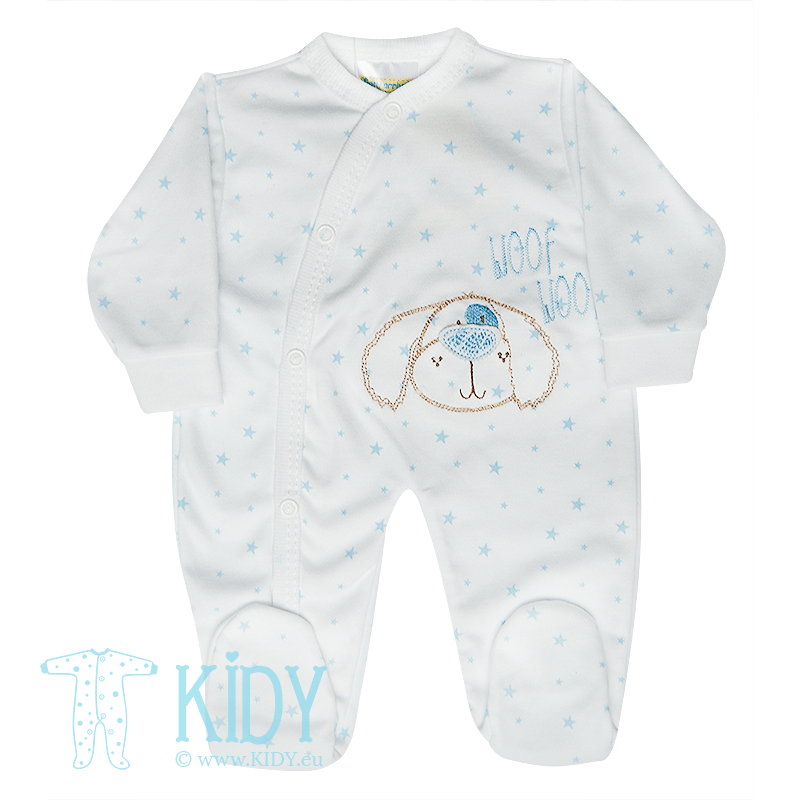 Blue PREMATURE set: sleepsuit + bib + hat (Bee Bo) 4