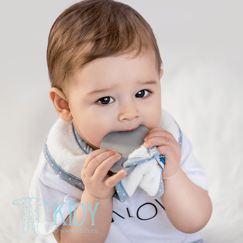 Creamy supeRRO bib with teether (Lullalove) 4