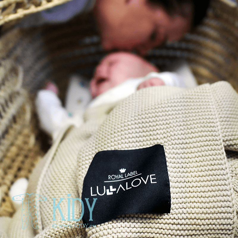 Beige knitted plaid ROYAL LABEL Kawa z mlekiem (Lullalove) 4