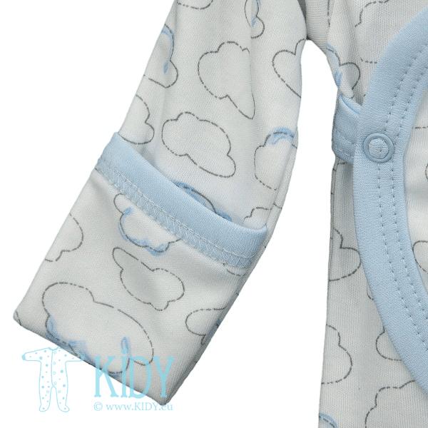 Blue kimono bodysuit PIKSY with mitts (Lorita) 4