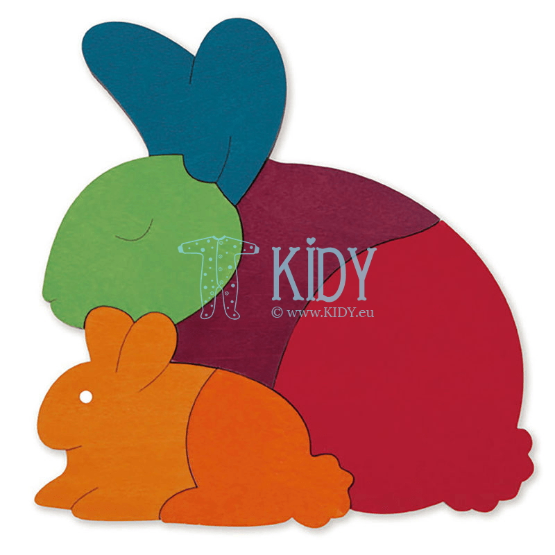 Dėlionė RAINBOW RABBIT (Hape) 4