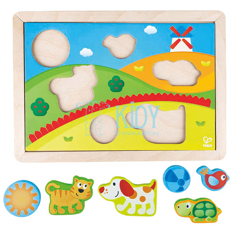 SUNNY VALLEY puzzle (3 in 1) (Hape) 4