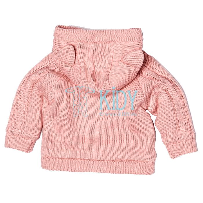 Rožinis megztinukas PRINCESS su kailiu (Babaluno) 4