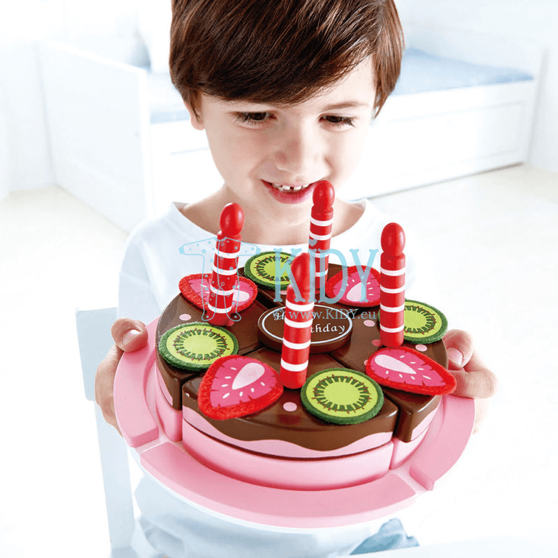 Playset Double Flavored Birthday Cake (Hape) 4