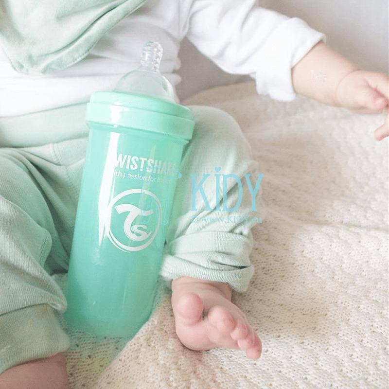 Зеленая бутылочка для кормления ANTI-COLIC MINT GREEN (Twistshake) 4