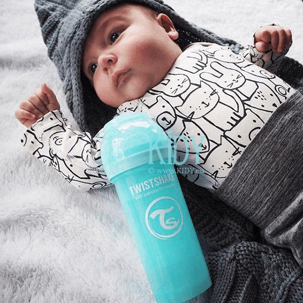Голубая бутылочка для кормления ANTI-COLIC (Twistshake) 4