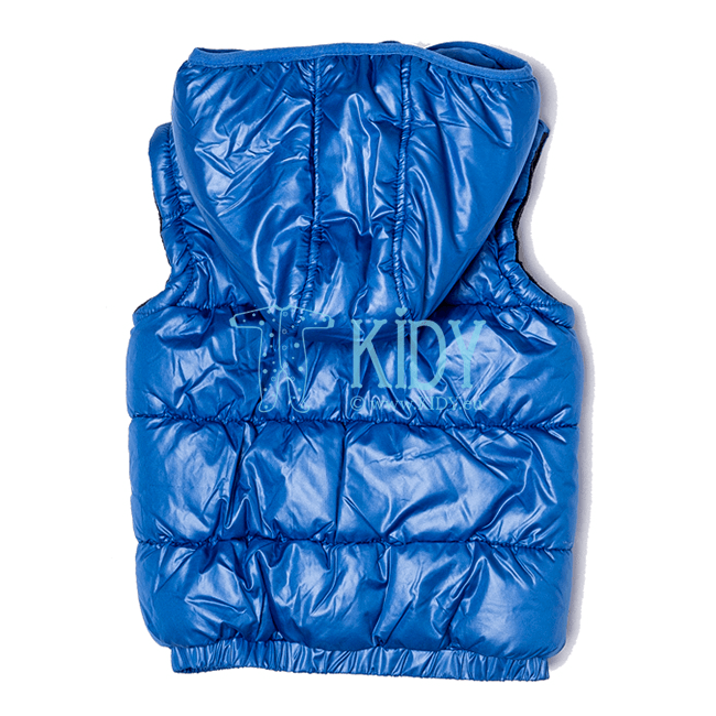 Blue hooded BAY gilet (Minoti) 4