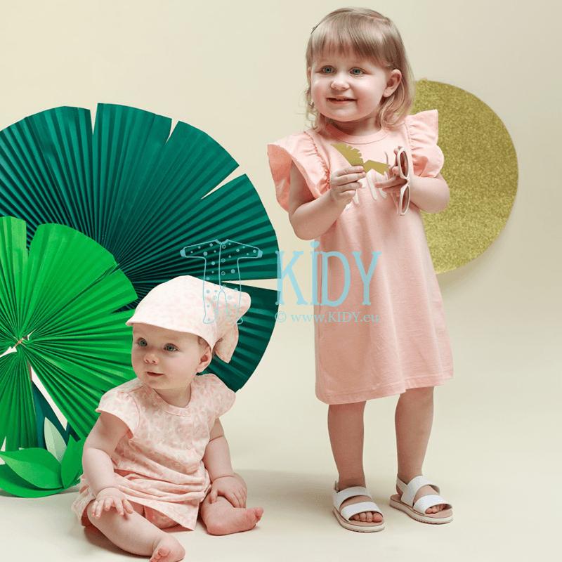 Розовое платьице SWEET PANTHER с короткими рукавами (Pinokio) 4