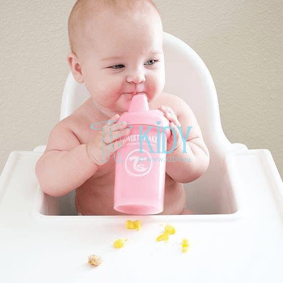 Rožinė gertuvė SIPPY CUPS CRAWLER LIGHT PINK (Twistshake) 4