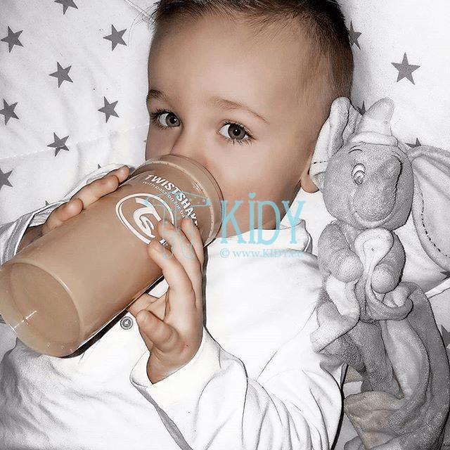 Beige ANTI-COLIC feeding bottle (Twistshake) 4