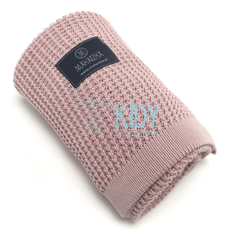 Pink Bambus knitted plaid (MAKASZKA) 4