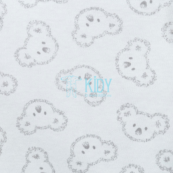 White KOALA easy-shirt with mitts (Lorita) 4