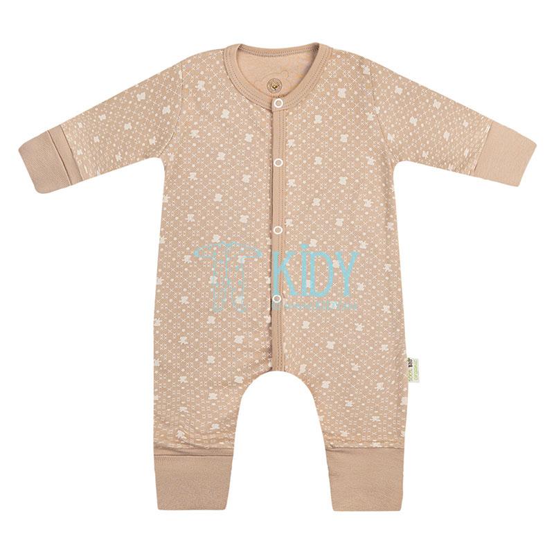 9 pcs brown ORGANIC unisex baby layette set for newborns (BIO Baby) 4
