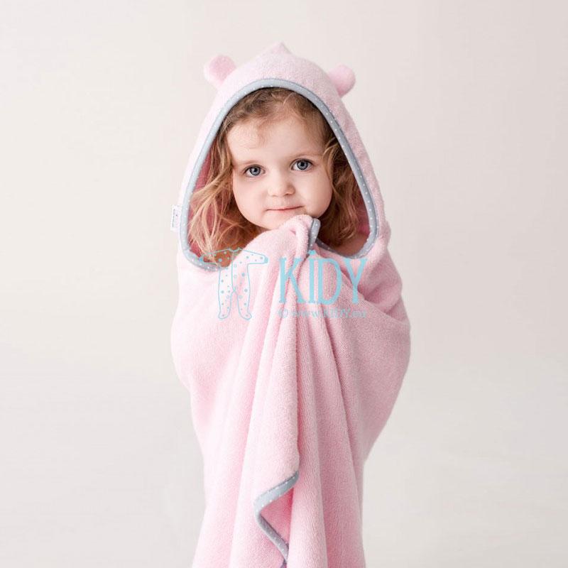 Rožinis bambukinis rankšluostis su gobtuvu supeRRO kūdikiams (Lullalove) 4