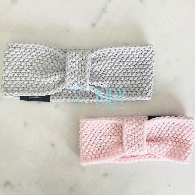 Knitted pink ROYAL LABEL headband (Lullalove) 4