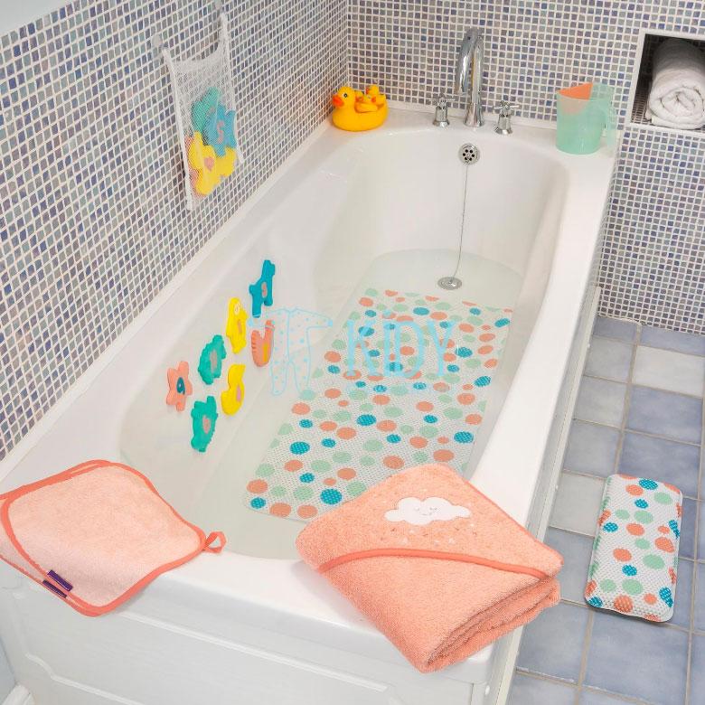 Rožinis rankšluostis su gobtuvu SPLASH & WRAP (ClevaMama) 4