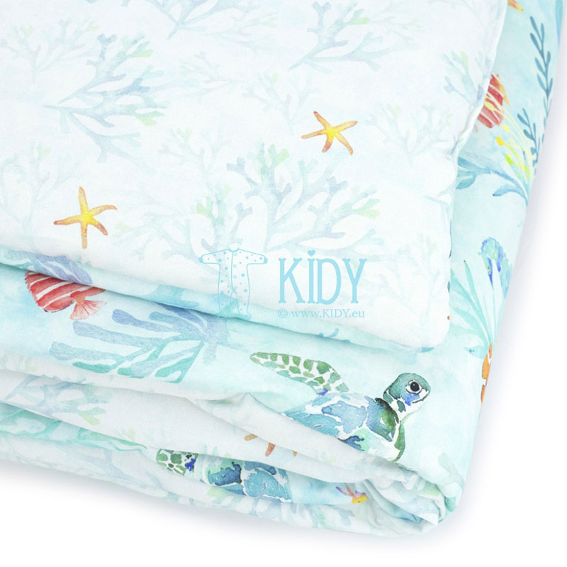 Patalynės komplektas Ocean: antklodė + pagalvė (MAKASZKA) 4