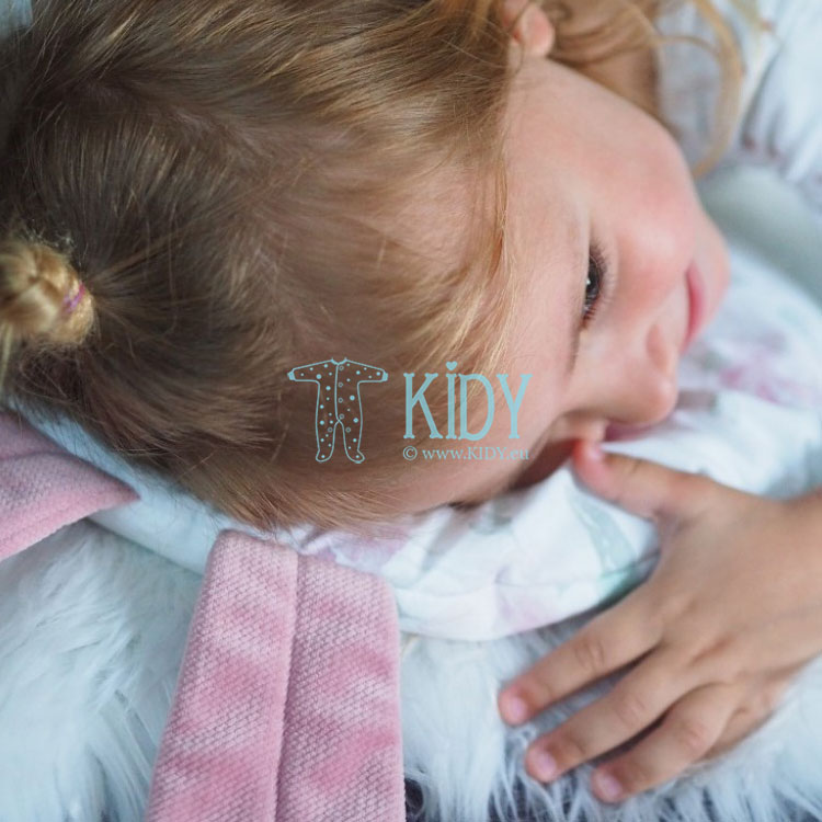 Rožinė pagalvė Peonie su ausimis (MAKASZKA) 4