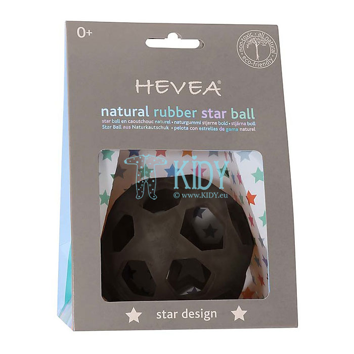 Guminis kamuolys STAR BALL BLACK (Hevea Planet) 4