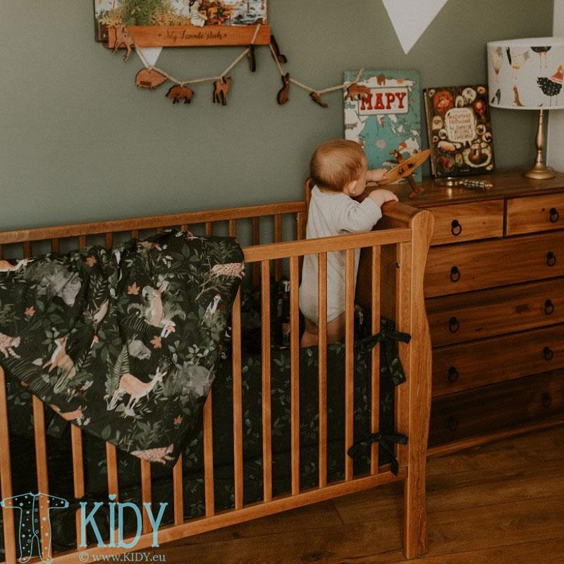 Patalynės komplektas Woodland: antklodė + pagalvė (MAKASZKA) 4