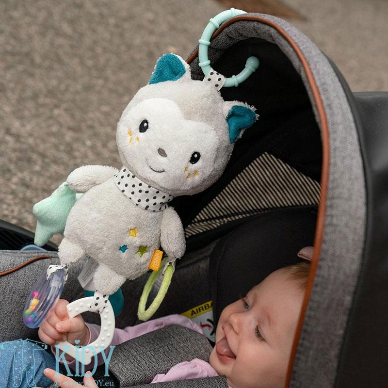 Minkštas žaislas su barškučiu Cat (BabyFehn) 4