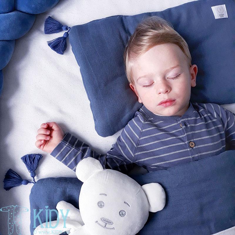 Muslino ekologiškos medvilnės patalynės komplektas JEANS: antklodė + pagalvė (YOSOY) 4