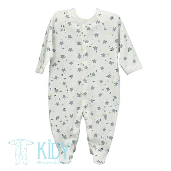 Baltas kombinezonas-pižama STARS