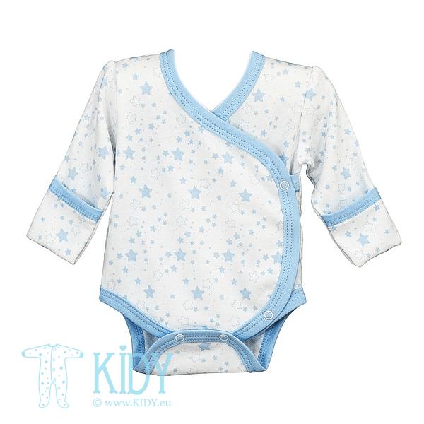 White kimono bodysuit PIMKY with mittens
