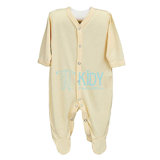 Yellow PIPSI KOALA sleepsuit