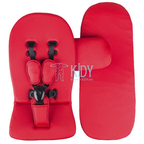 Komplektas (čiužinys, paminkštinimas, lopšio uždangalas) Ruby Red