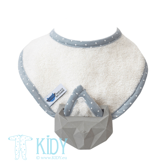 Creamy supeRRO bib with teether