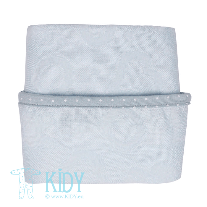 Blue bamboo supeRRO swaddle