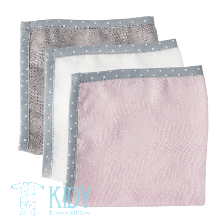 Pink supeRRO set: 3 wash cloths