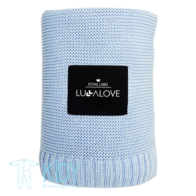 Blue knitted plaid ROYAL LABEL