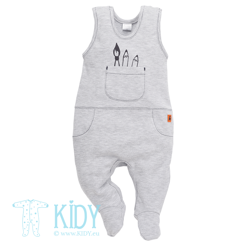 Grey XAVIER dungaree