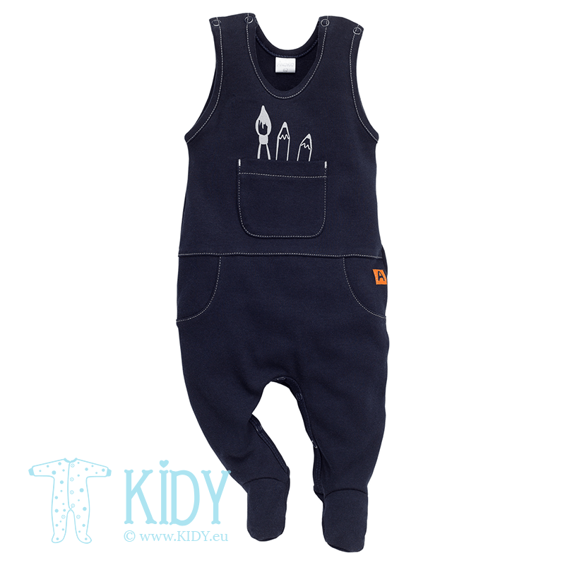 Navy XAVIER dungaree