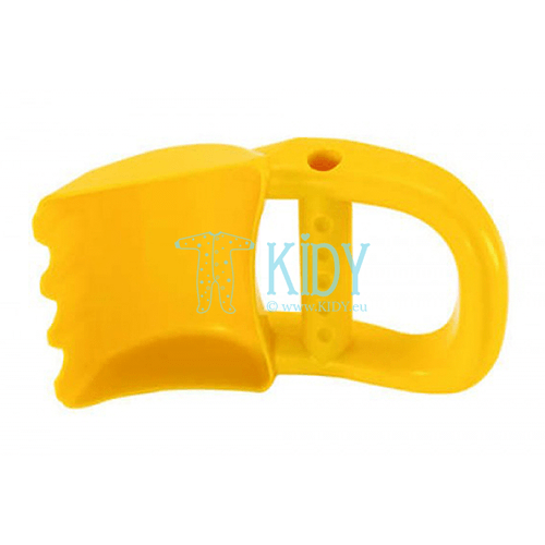 Sand toy hand digger yellow