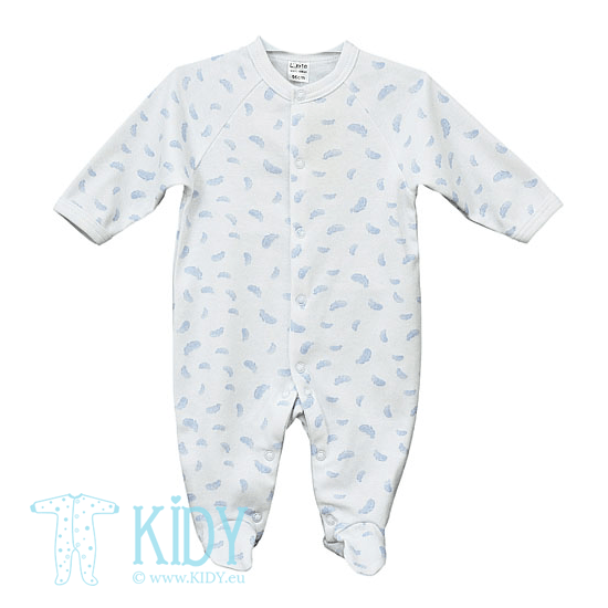 White KIKI sleepsuit