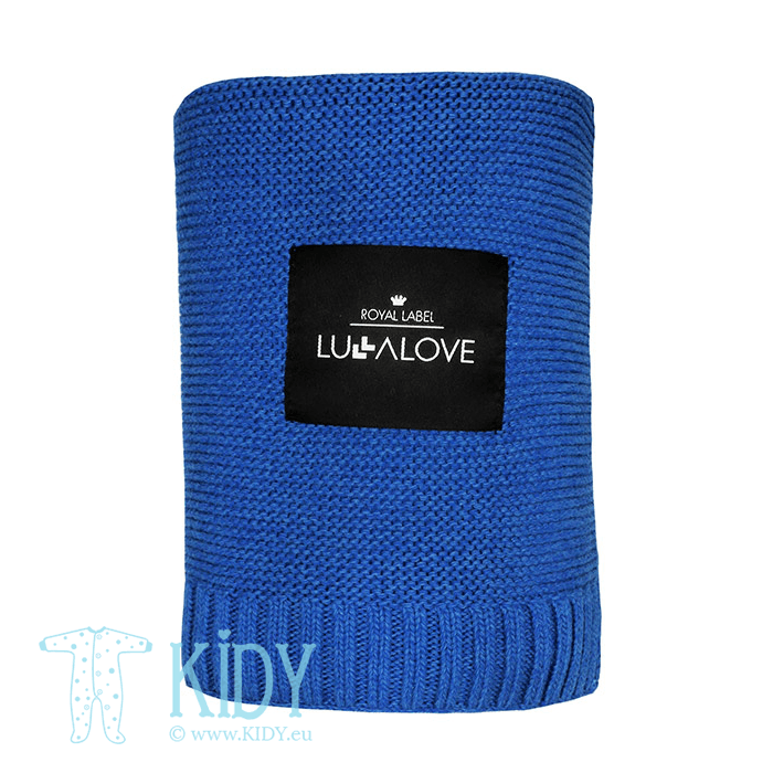 Navy knitted plaid ROYAL LABEL