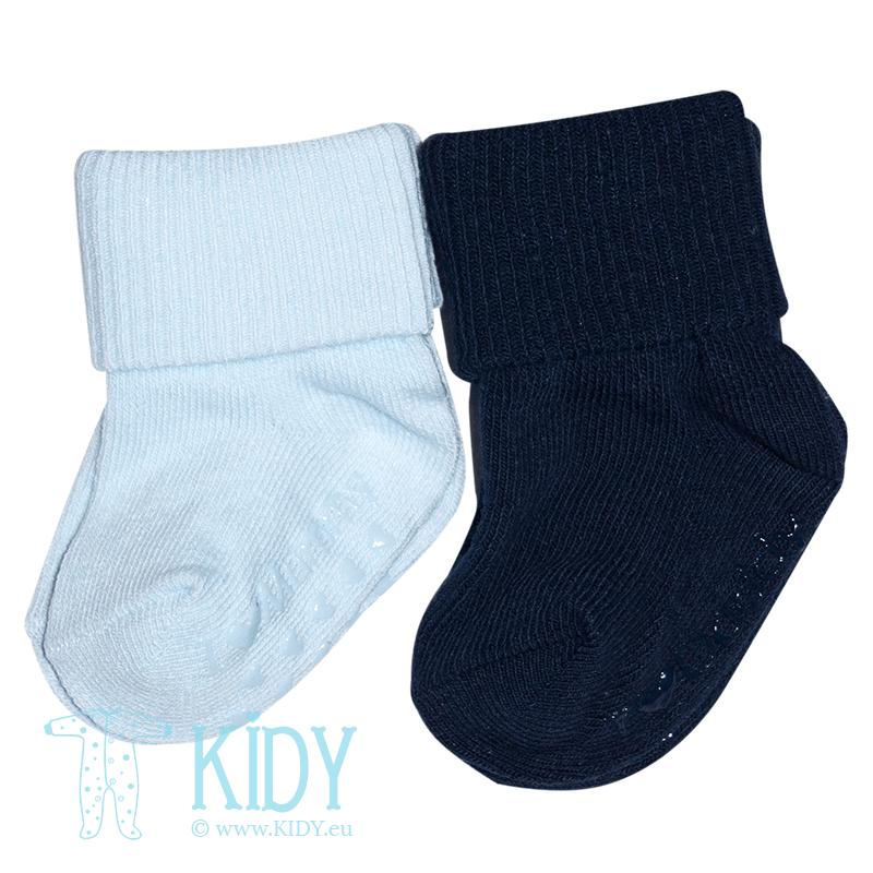 Blue ANTI SLIP socks: 2 pairs