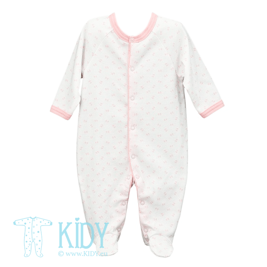 White sleepsuit LUCKY