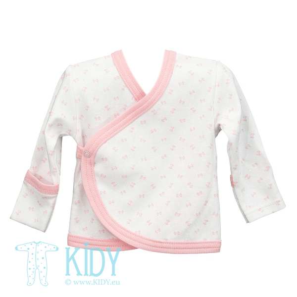White LUCKY easy shirt with mitts (Lorita)